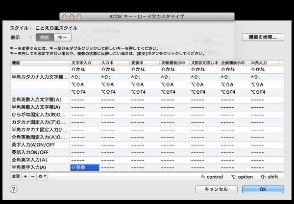 ATOKキー・ローマ字カスタマイザ3