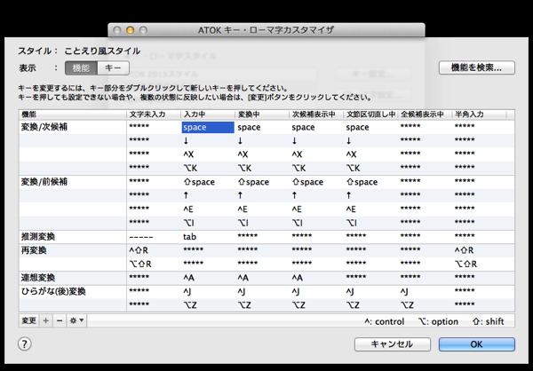 ATOKキー・ローマ字カスタマイザ1