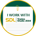 I work with SDL Trados Studio 2014